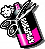 Hairspray Scissors
