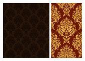 Seamless damask wallpaper pattern.