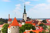 stock photo of olaf  - View over the Old Town of Tallinn Estonia - JPG