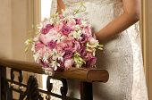 Bridal Rose Flower Bouquet Landscape