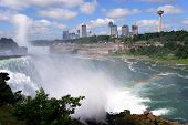 Niagara Falls And Rainbow