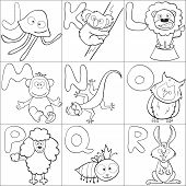 Coloring Book With Alphabet