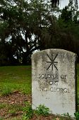 pic of 1700s  - A marker for a soldier who served at Fort King George in the late 1700s for the British - JPG