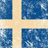 Sweden retro flag