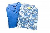Two Colorful Hawaiian Shirts