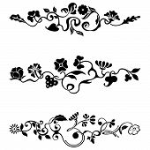 image of art nouveau  - Ornamental frieze designs with floral details vector series - JPG