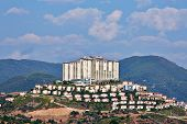 MAHMUTLAR - JUL 10: Hotel Goldcity Tourism Complex, July 10, 2012, Mahmutlar, Alanya, Turkey. This 5