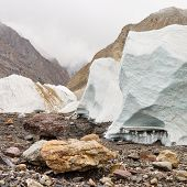 Seracs On The Baltoro Glacier
