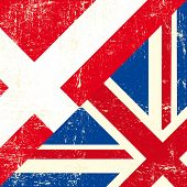 English and Denmark grunge Flag. this flag represents the relationship between UK and the Denmark