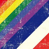 picture of gay flag  - Netherlands and gay grunge Flag - JPG