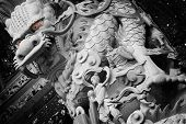 Temple Stong Carving - People And Dragon