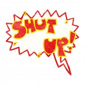 shut up cartoon shout