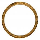 Round Golden Handmade Frame