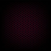 Black and red carbon abstract geometric background, vector