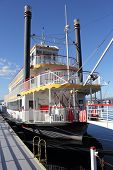 Old timer paddle steamer