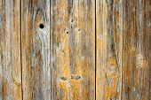 Old Wooden Board With Holes As Background