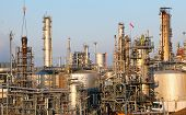 stock photo of refinery  - Oil refinery in the day  - JPG