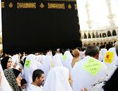 MECCA, SAUDI ARABIA - MAY 24: Muslim pilgrims, from all around the World, are circumambulating the K