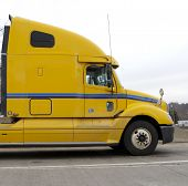 Yellow Semi Truck