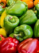 Mixed Peppers Background