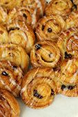 Raisin Sweet Danish Pastries