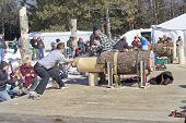 Lumberjack Two Man Bucksaw Competition Starting