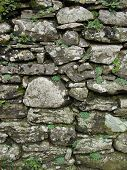 A Section Of Drystone Wall In Tuscany, Italy