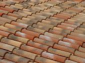 Terracotta Roof Tiles Pattern