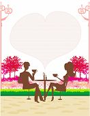 Silhouette Of A Man And Woman Drink Coffee