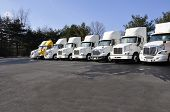 Many Tractor Trailers