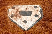 stock photo of little-league  - home plate on a little league baseball field - JPG
