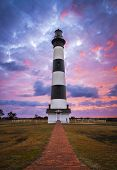 Bodie Island Leuchtturm Cape Hatteras National Seashore Outer Banks Nc