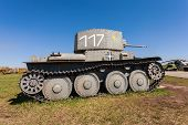 Togliatti, Russia - May 2: Old Czech Tank Lt Vz. 38 - Pzkpfw 38(t) At The Exhibition In The Technica