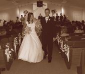 Sbwed Couple Exit Sepia