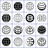 Set de iconos de globo
