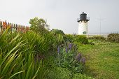 Point Montara Fog Signal And Light Station With Flowers