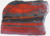 Neoarchean (2.7 giga years old) Banded Iron Formation (jaspilite)