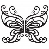 Ornamental vector butterfly