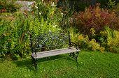 Bench in the walled garden, Applecross, Scotland