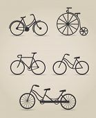 Bicycle set, vector illustration
