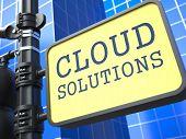 Internet Concept. Cloud Solutions Waymark.