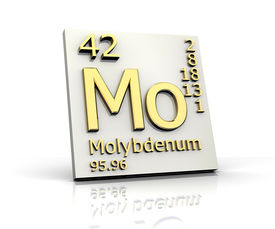stock photo of periodic table elements  - Molybdenum form Periodic Table of Elements  - JPG