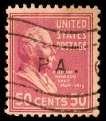 UNITED STATES - CIRCA 1938 : A stamp printed in United States. Displays William Howard Taft. United