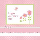 Mother's Day card.with pink background
