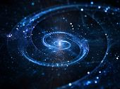 foto of einstein  - Spiral galaxy in deep space abstract background - JPG