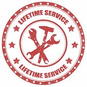 Lifetime Service-stamp