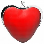 heart purse, love