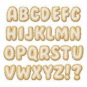 Set of Biscuit Alphabet A-Z