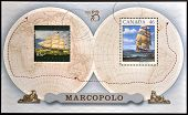 stamp printed in Canada shows Sailing Ship Marco Polo