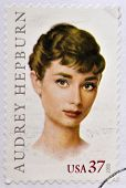 UNITED STATES OF AMERICA - CIRCA 2003: A stamp printed in USA shows audrey hepburn